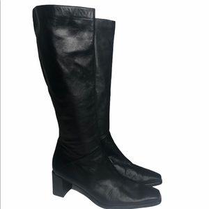 STUART WEITZMAN | Square Toe Block Heel Tall Boots